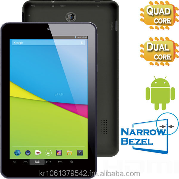 7 inch Android Tablet PC, Dual Core, 4GB + 512MB, Narrow Bezel, Camera, TN, Slim Design, P779