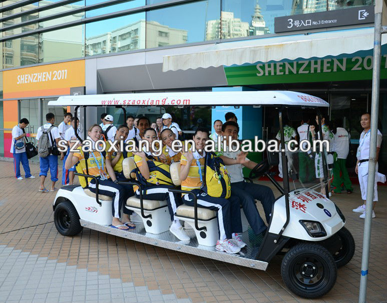 tourism bus passager hospitality vehicles 8 seater,electric golf cart,airport electric vehicle