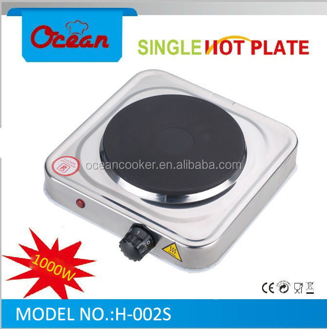Single electric stove ,1000W stainless steel electric hot plate ,portable electric hot plate