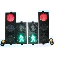 Road Cross 300mm Pedestrian 3 Color Button Push Traffic Signal Light Shenzhen LED Factory Lighting