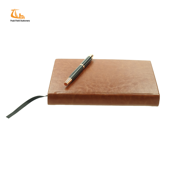 Custom vintage pu leather bound blank writing note book