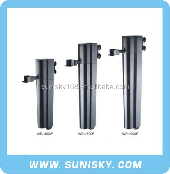 Fully submersible aquarium internal filter
