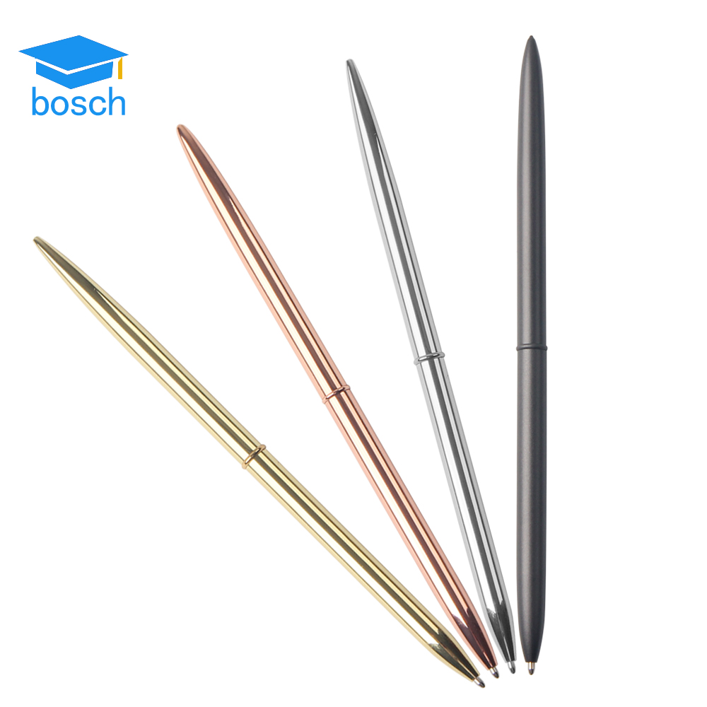 Rose gold/silver/gun black metal cross pen gift metal desk metal twist ball pen slim