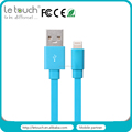 TPE flat MFi certified 8pin usb cable for iPhone 6/6plus,for iPad in 1M,1.5M for OEM