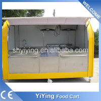 New condition YiYing china made mobile catering trailer food van