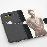 pu & leather sublimation phone cases for samsung GALAXY s3
