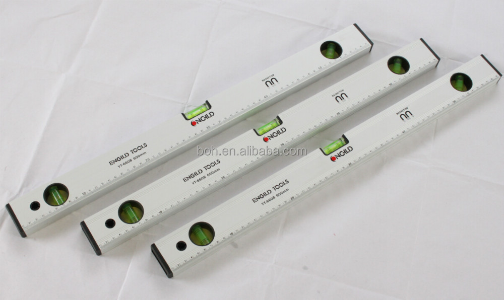 Aluminum precision spirit level with strong magnet