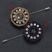 Classic Beads Jewelry Brooch Men's Rhinestone Brooch Decorations Popular Brooches for Men