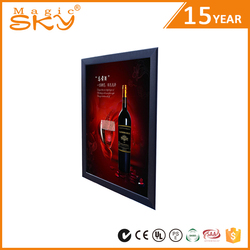 Wedding gift glass souvenir aluminum alloy light box picture frame
