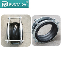 Stainless steel single sphere rubber expansion flexible joints with fixed tie rods