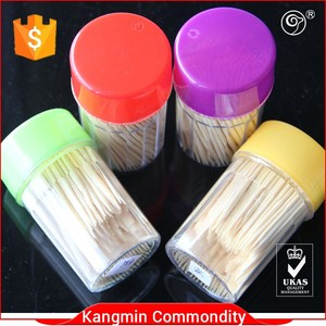 hot sale bamboo toothpicks Mouth Cleaning Toothpicks With Floss with double points