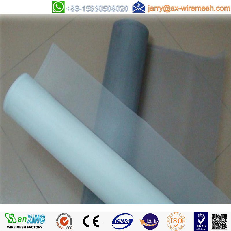 One way vision cheap fiberglass window screen with white, grey, black color