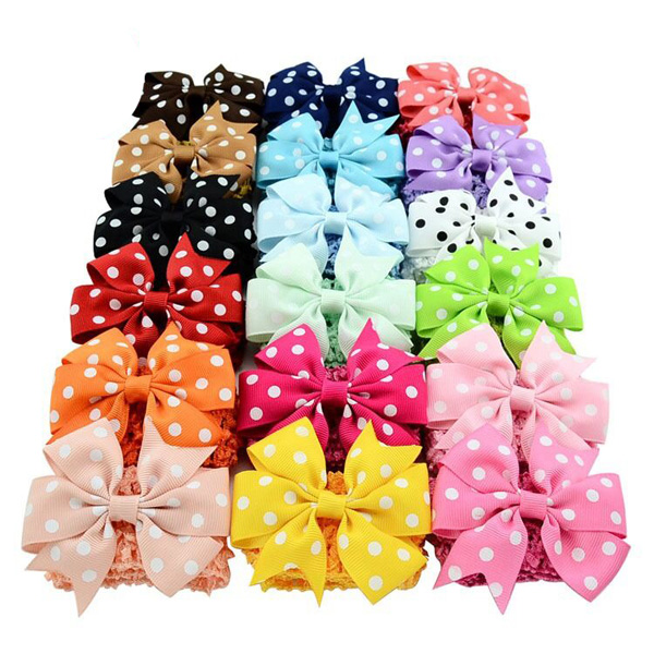 Fashion DIY kids hair accessories baby bow clip headband