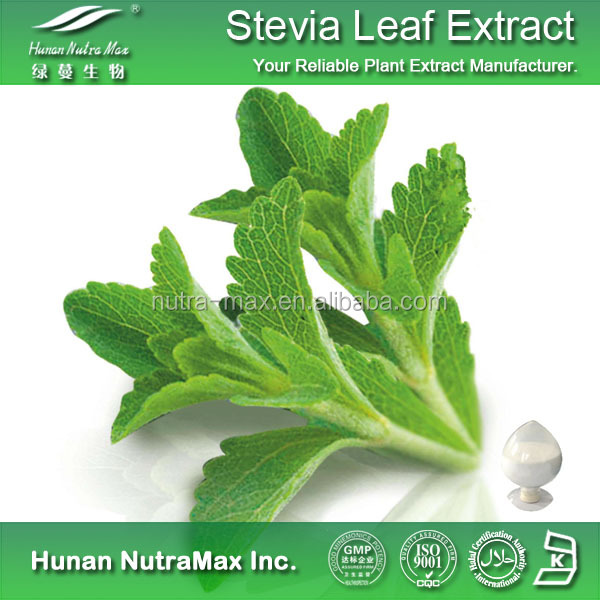 Plant Extract Stevia Sweetener Extract Rebaudioside A Total Steviol Glycosides 40%~98% CAS No. :57817-89-7