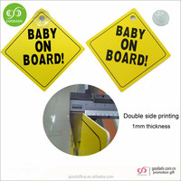 Wholesale Eco-Friendly Plastic pp window car warning sign with suction cup