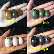 Wholesale healing (Drilled or Undrilled) rock quartz crystal yoni eggs natural jade eggs for kegel