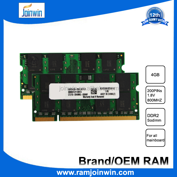 cheap chinese laptops 4gb pc2-6400 ddr2 sodimm 800mhz 200-pin memory ram