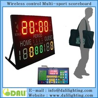 Electronic led portable basketball scoreboard