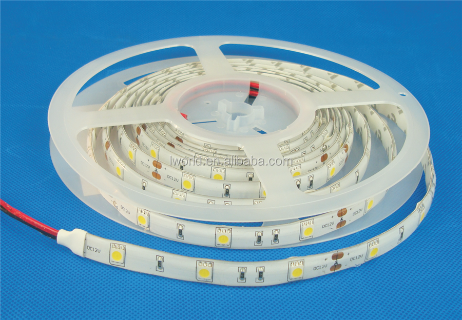 continuous length flexible led light strip SMD5050 30 LEDs/m waterproof led strip light