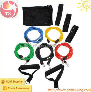 Custom Fitness Resistance Bands Rope Exercise Tubes Elastic Exercise Bands for Yoga Pilates Workout
