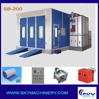painting booth/spray booth water curtain/ spray bake paint booths with CE