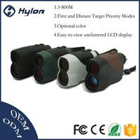 6x25 golf customized hand held laser rangefinder, gold detector