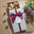 rectangular wedding sweet box with decorative bowknot