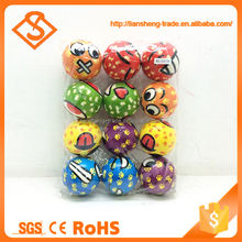 New arrival 12pcs stress sports toys soft pu ball for children