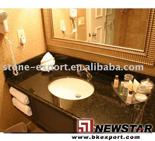 Bathroom vanity,ceramic sink with granite vanity top for hotel bathroom