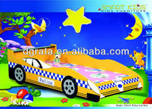 2013 lovely child cartoon bed is MDF board and environment painting smart style children bedroom furniture