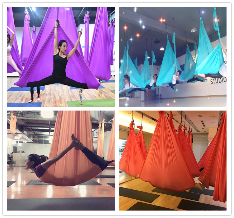 Professional 600KGS Stainless Steel Aerial Yoga hoops Aerial ring used same as dance pole with yoga hammocks