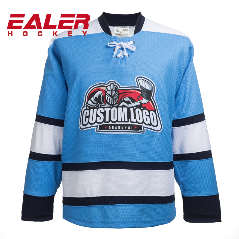 all stitch custom team logo blue pittsburgh penguin tackle twill hockey jersey