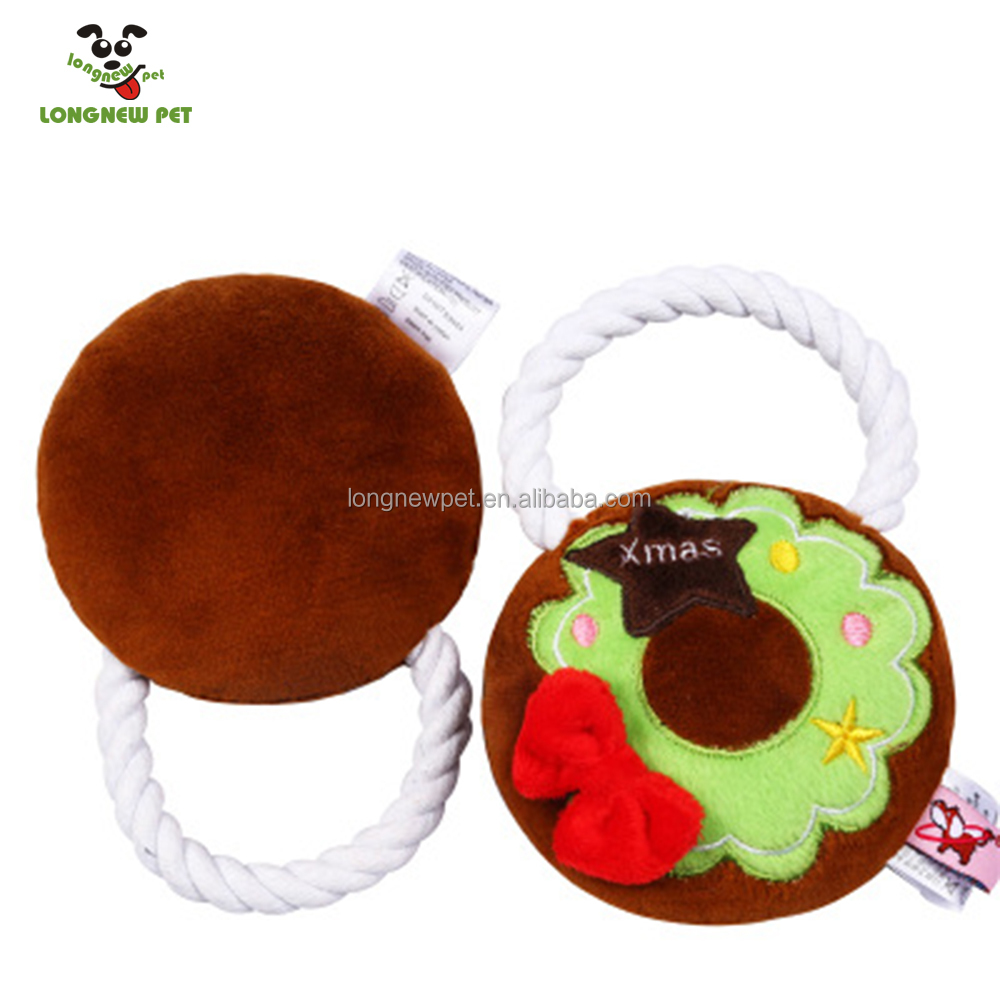 New Style 2017 Xmas Plush Dog Toys For Pet Poodle Chewing Interactive Outdoor Play