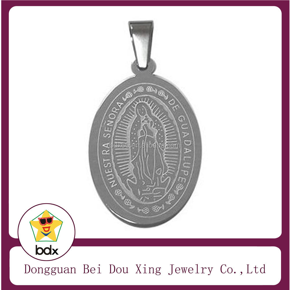 Two Tone Enamel Stainless Steel Religious Parton Saint Benedict Icon Cross Crucifix Jubilee Medals For Belief Jesus Christians