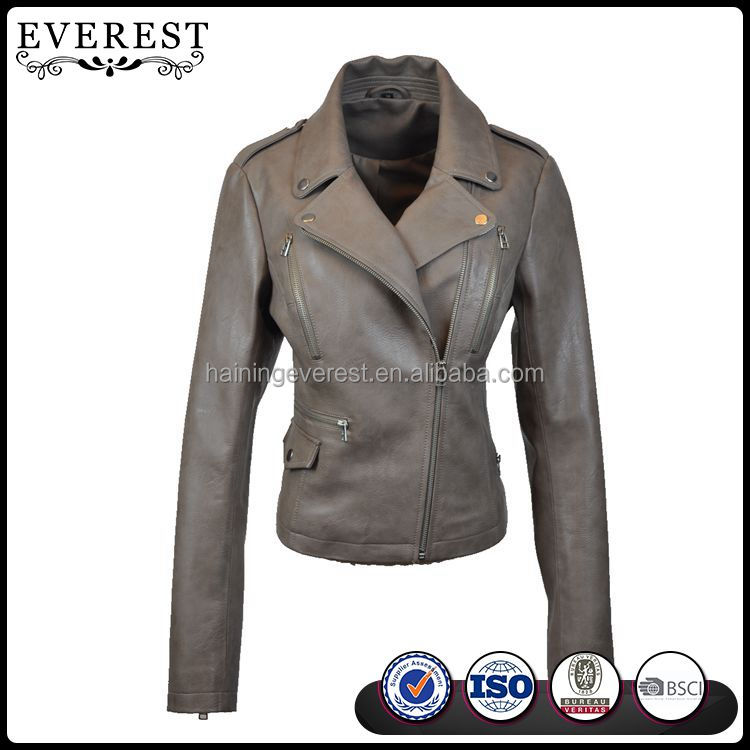 New Design Motorcycle Leather Jacket Womens Motorcycle Jacket