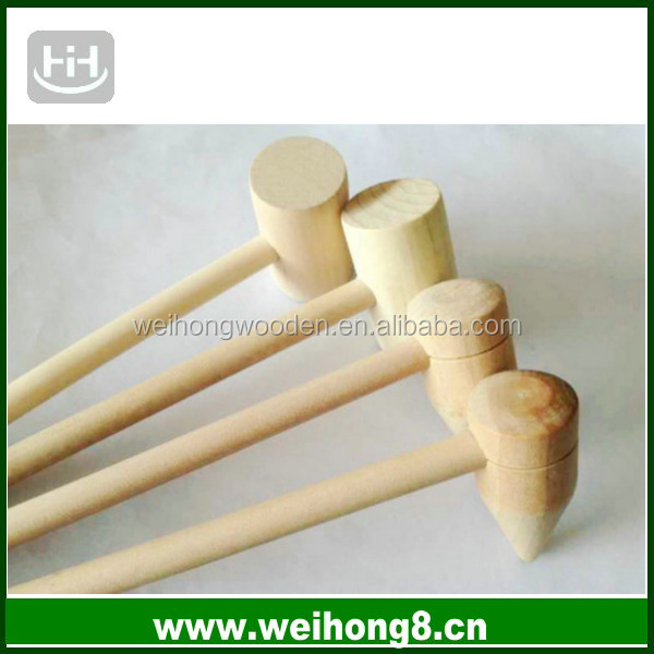 factory direct supplying natural wooden hammer for toy in competitive price