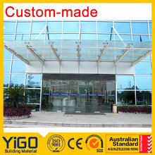 glass roof for conservatory / sliding glass roof system