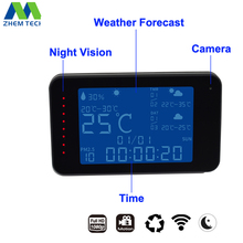 Wifi Digital Weather Forecast Alarm Clock with Temperature Humidity Display