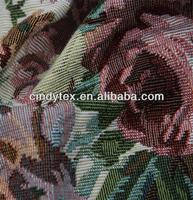 heavy weight poly/cotton flower pattern jacquard fabric