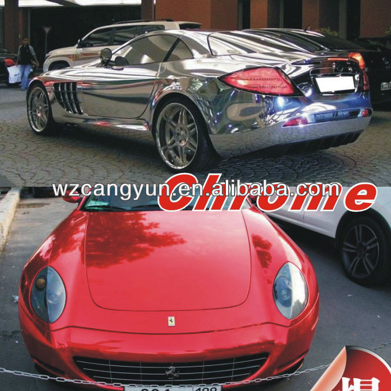 Fashional Design 1.52x30m PVC Chrome Vinyl Car Wrap <strong>Film</strong> (With Air Free Bubbles)