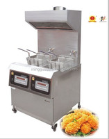 Continuous potato chips fryer, thailand fry ice cream machine, kfc deep frying broasted chicken machine exhaust hood