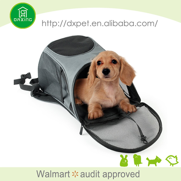 DXPB006 Professional foldable soft dog backpack carrier for biking