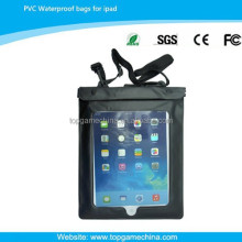 pvc waterproof case for ipad2/3/4/5 neck strap case