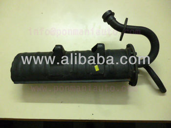 Silencer assembly for TVS KING AUTO