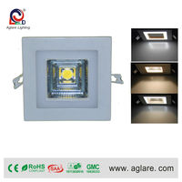 Color change 80mm cob 3w led recessed square downlights