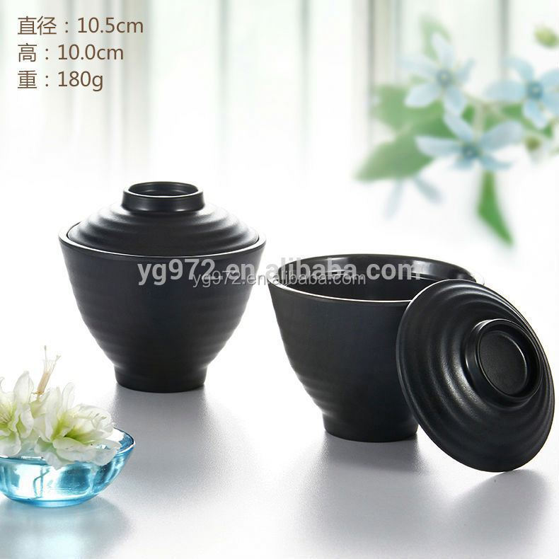 Guangzhou Factory Stocked Cheap Restaurant Tureen and Plastic Soup bowl with lid