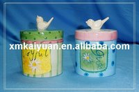 Ceramic cookie container /spring decoration(113-137)