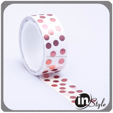 Adhesive foil stationery masking tape with washi paper
