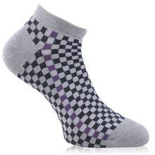 Ladies fashion casual jacquard cotton crew socks for apparel