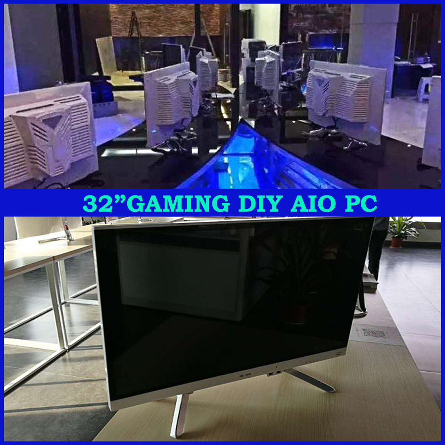 Dedicated graphics card type 32 inch assemble all in one pc with LED monitor,desktop computer without CPU
